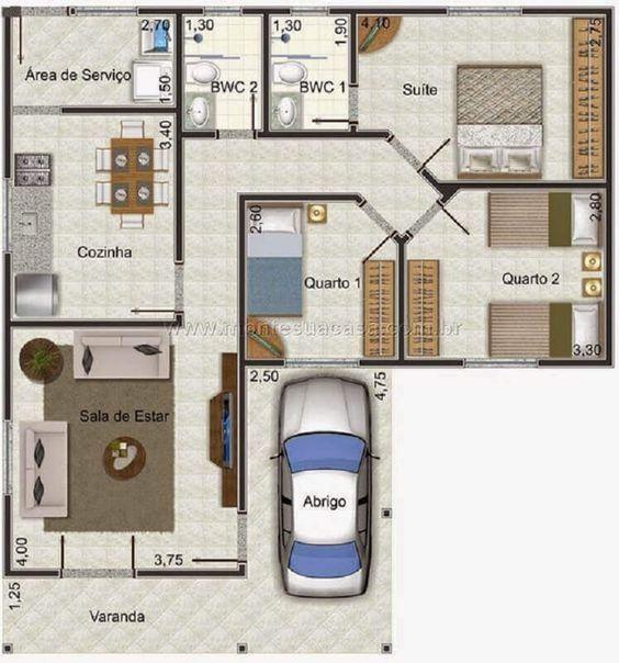 planta baixa para projeto de casa