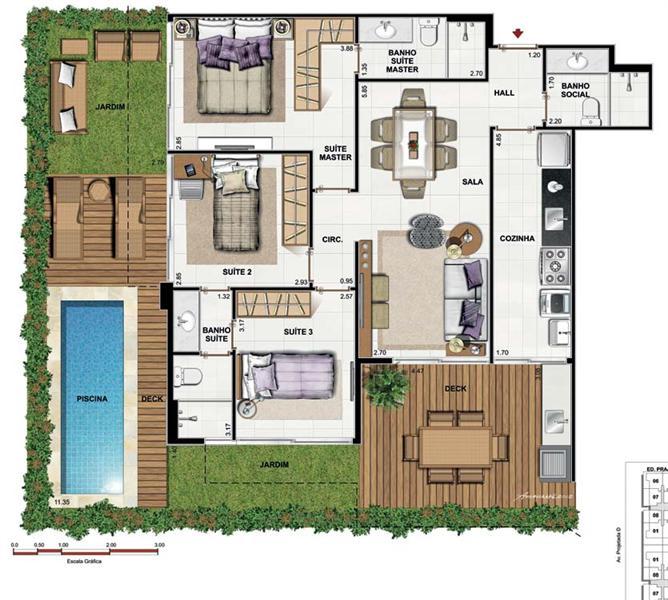casa grande com piscina e suites