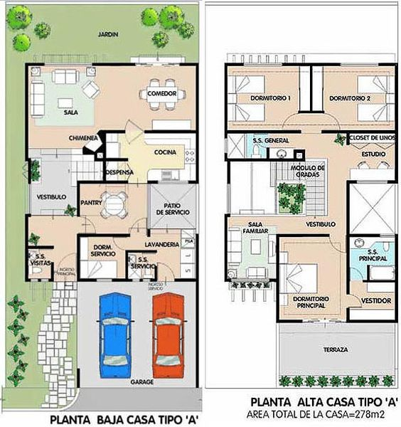 planta de casa moderna sobrado com 3 quartos