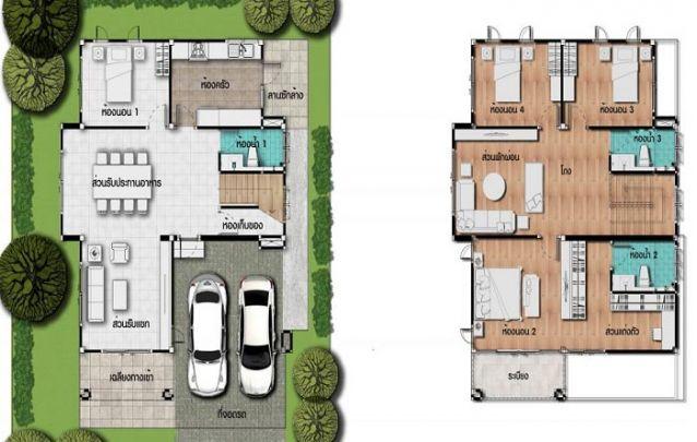 plantas de casas com 3 quartos sobrado