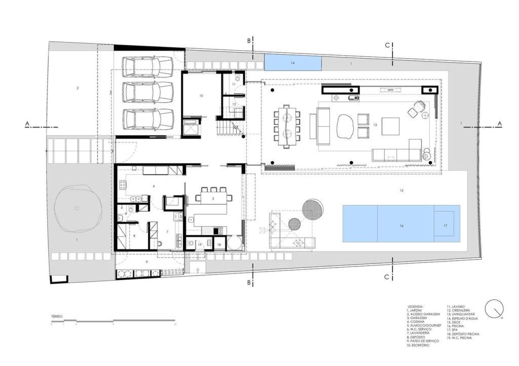 casa térrea com piscina e 3 vagas