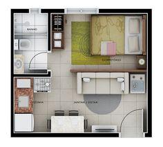 plantas de casas pequenas com cozinha aberta