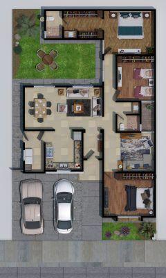 casa com closet e escritório