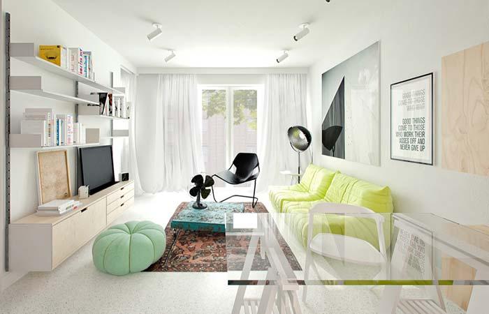 Como decorar uma sala moderna e clean.