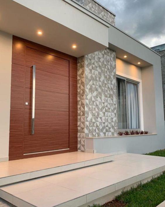 Cores de casas claras também combinam com azulejo.