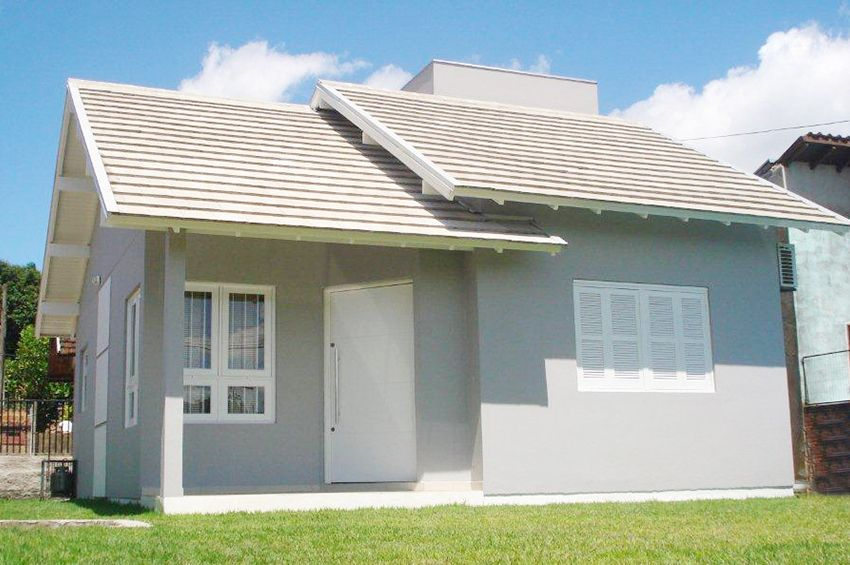 Casa simples e pequena cinza.