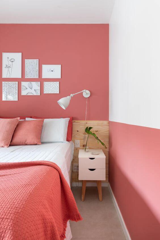 Cores para quarto que remetem a carinho e delicadeza: rosa e branco.
