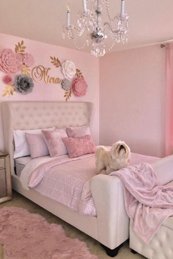 O rosa é uma das cores para quarto preferidas das meninas.