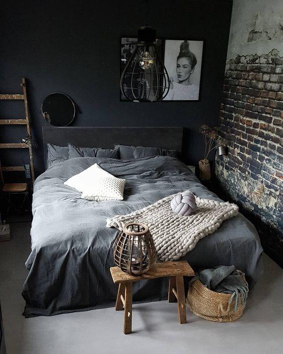 Cores para quarto moderno e rústico.