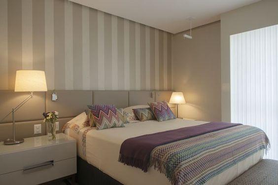 Cores para quarto de casal: nude e branco.