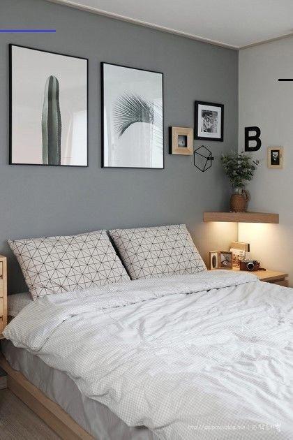Cores para quarto de casal: cinza e branco.