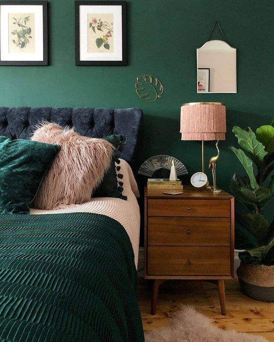 Cores para quarto de casal: verde.