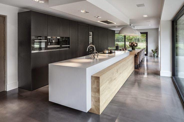 Cozinha planejada com ilha moderna