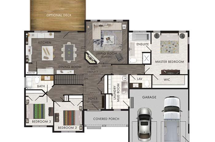 plantas de casas com 3 quartos com suíte master