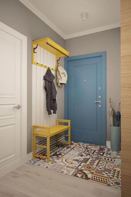 móveis planejados amarelo e lambri branco
