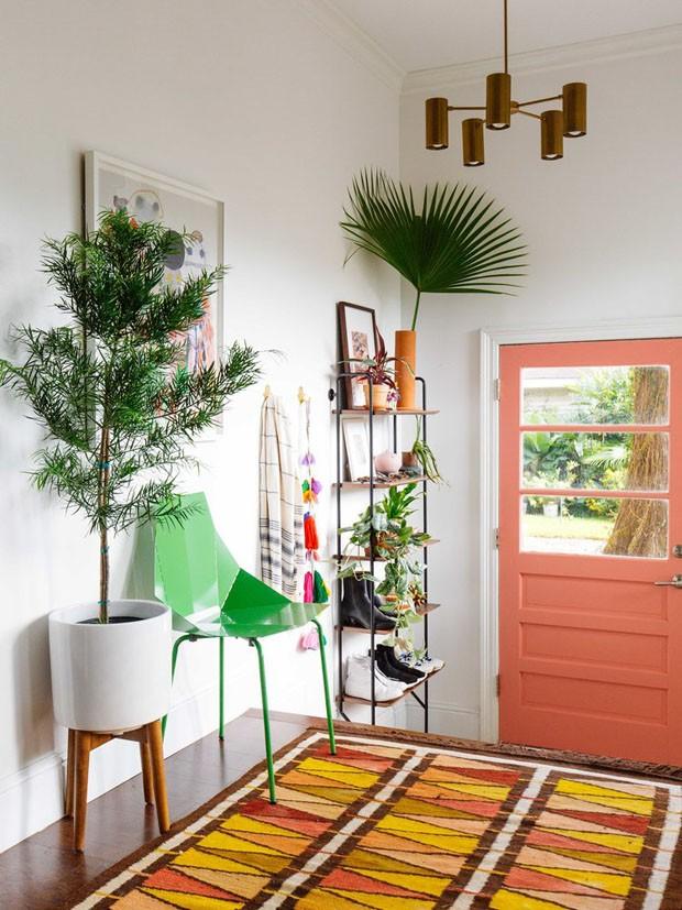 porta de entrada rosa
