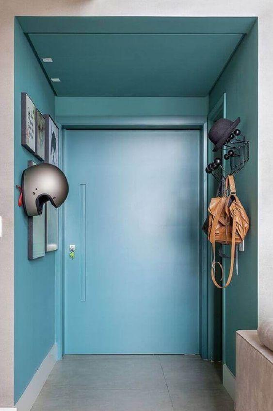 pintura de parede e teto azul