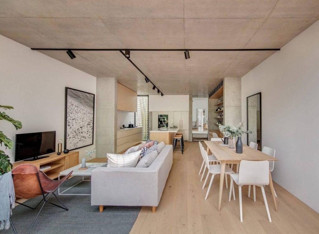 sala de estar integrada com living e cozinha