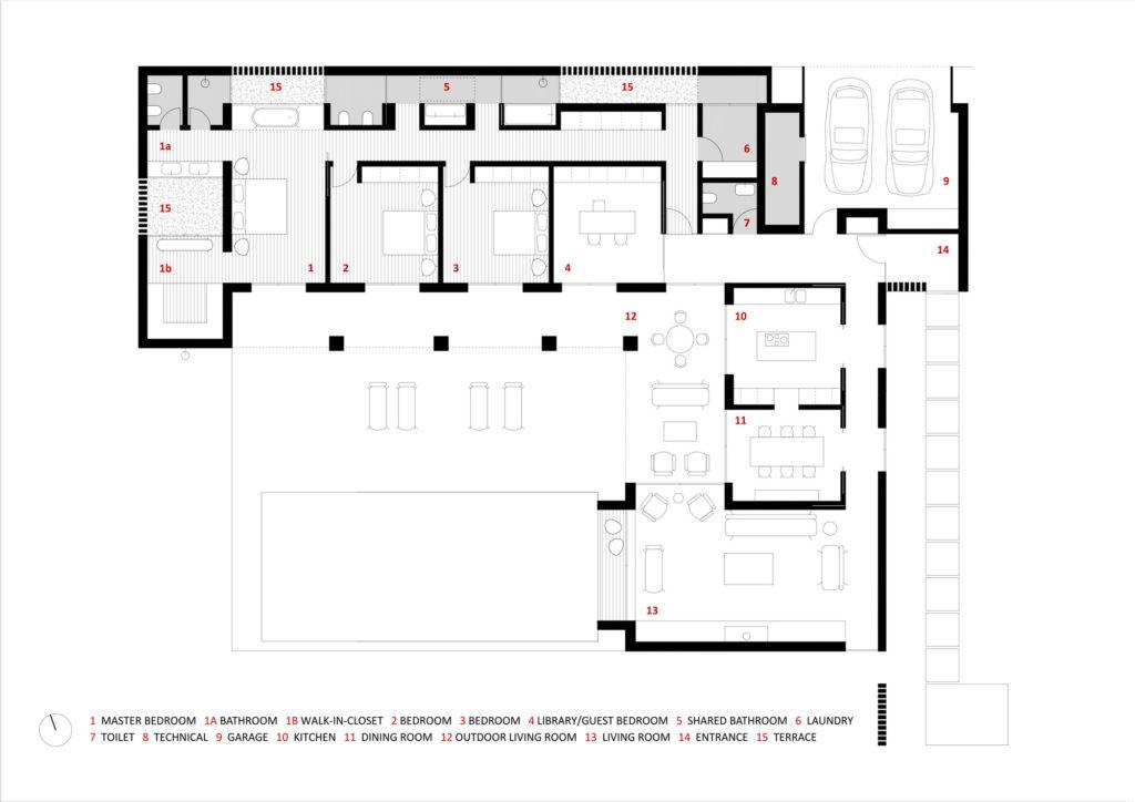 planta baixa 3 dormitórios