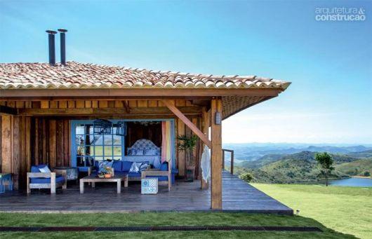 Casa de campo de madeira.