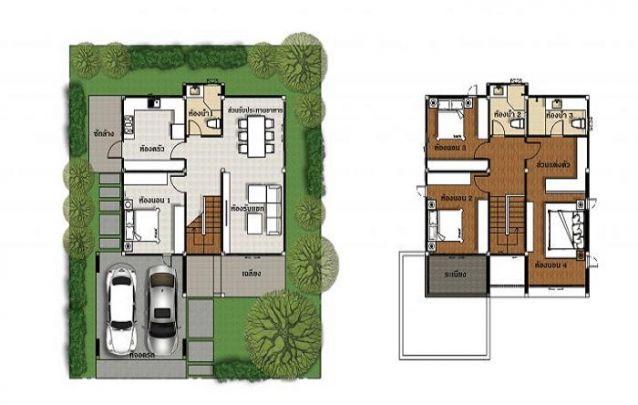plantas de casas com 3 quartos sobrado com sala de tv