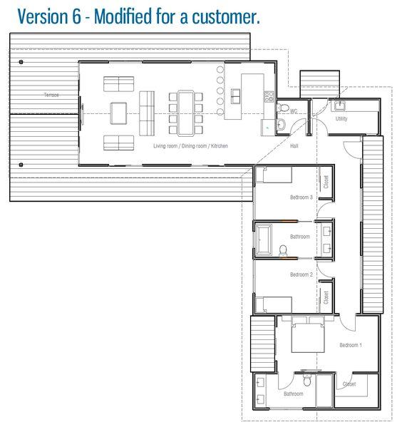 plantas de casas com 3 quartos com suítes