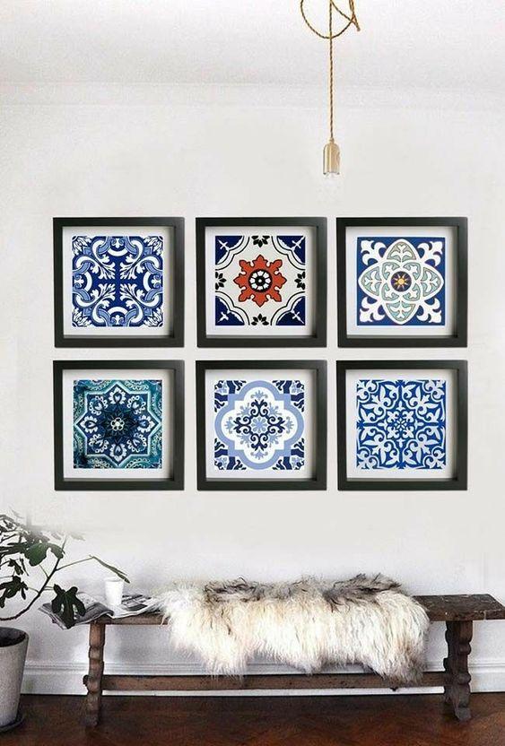 Azulejo português como quadro decorativo.