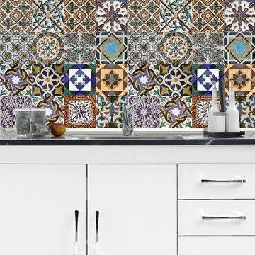 Adesivo de azulejo português,