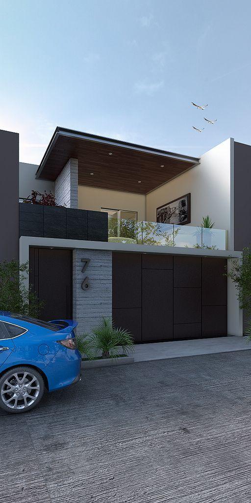 fachada marrom moderna