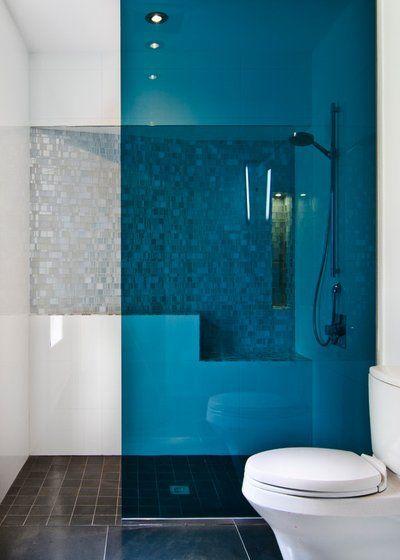 box para banheiro com acrílico azul