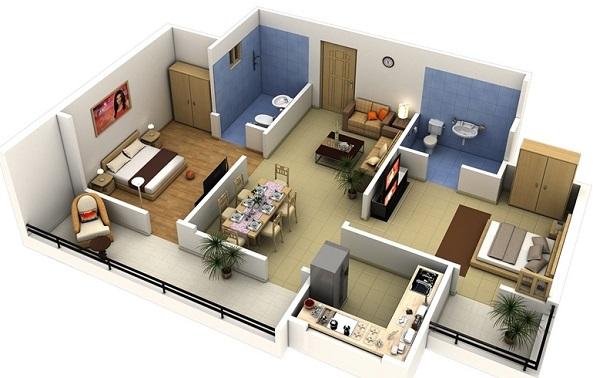 projeto de casa com terraço privativo e suíte