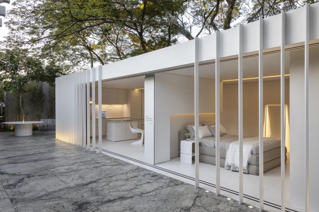 Casa minimalista branca.