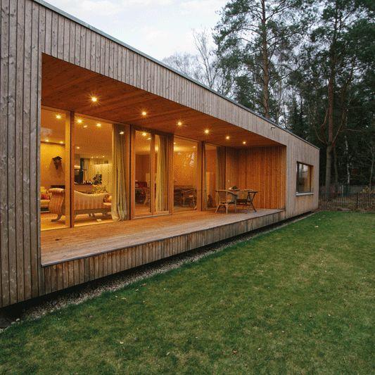 Casa inteira revestida de madeira.