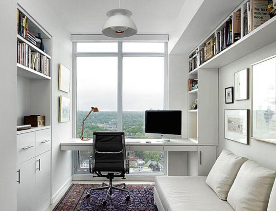 Casas pequenas com escritório.
