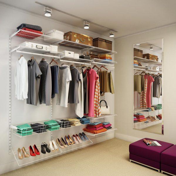 modelos de closet de cremalheira simples