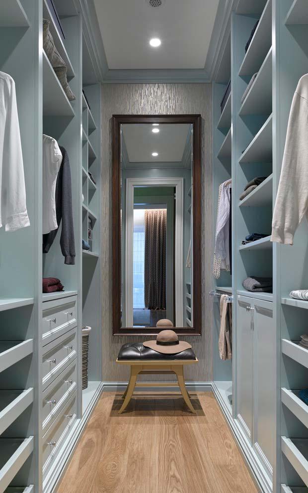 modelos de closet corredor