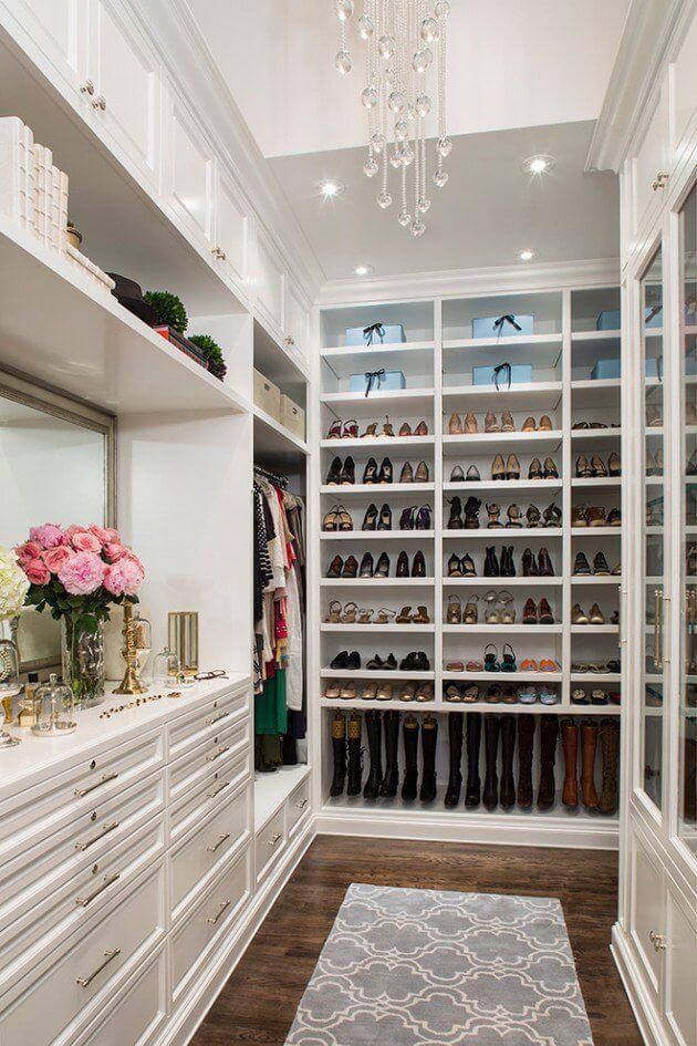 modelos de closet branco de marcenaria