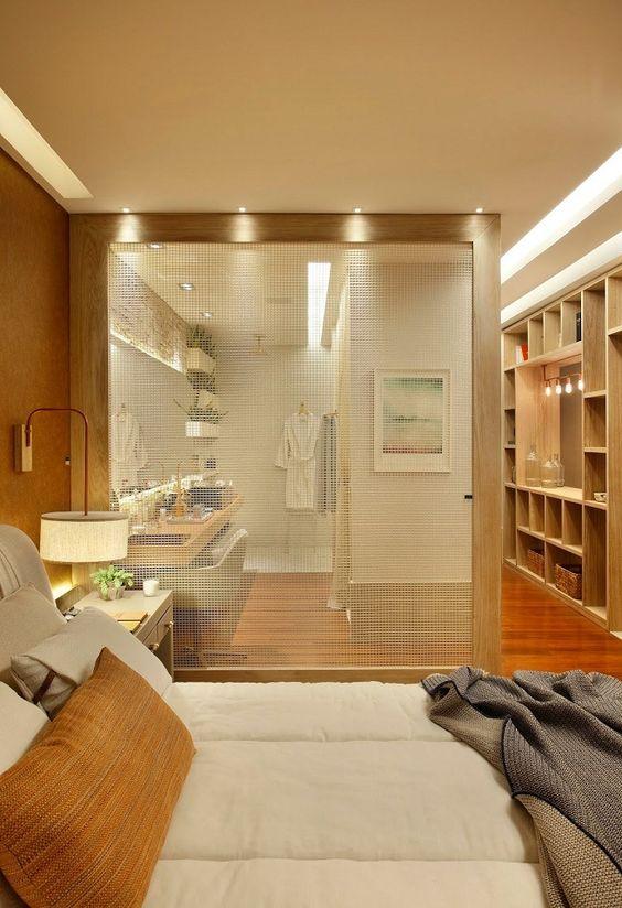 modelos de closet com banheiro