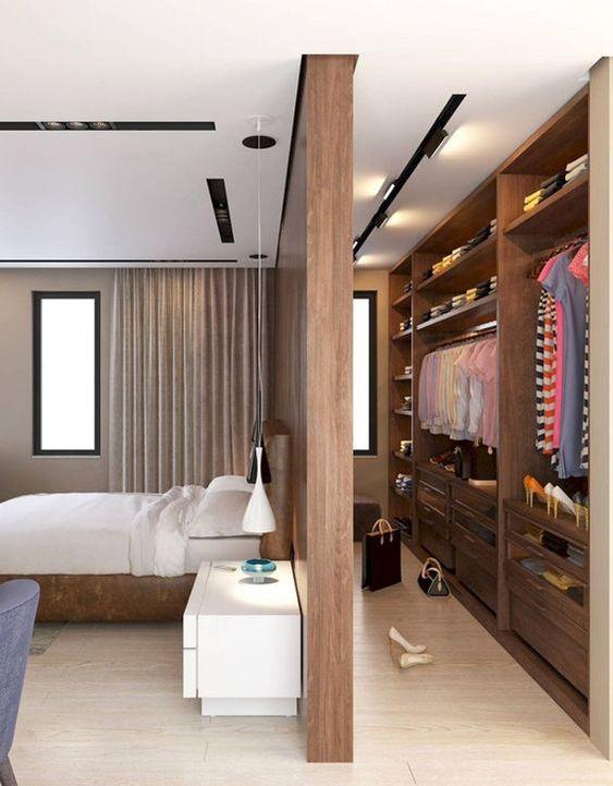 modelos de closet feito com divisória