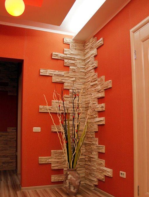 paredes com textura em pedra