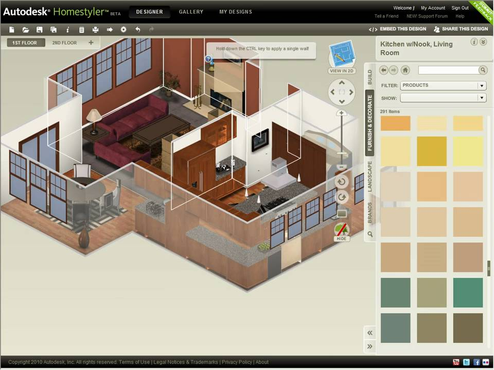 Como criar plantas de casas: Autodesk Homestyler.
