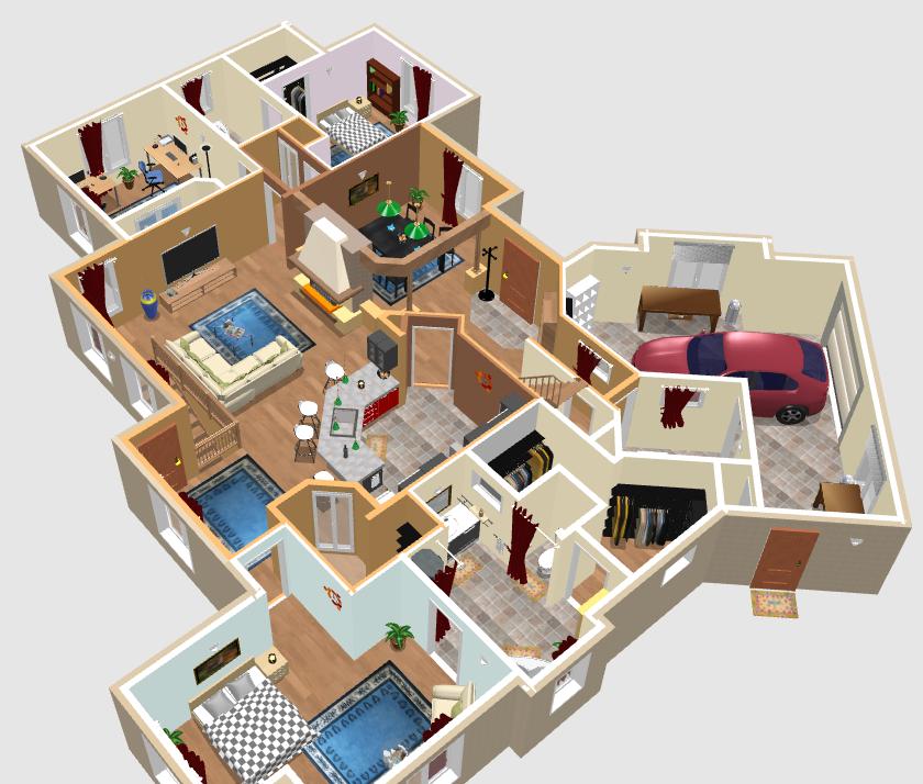 Como criar plantas de casas: Sweet home 3d.
