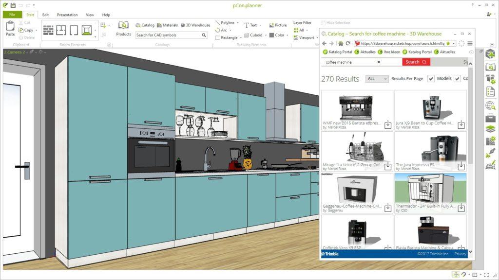 Cozinha planejada pCon planner.