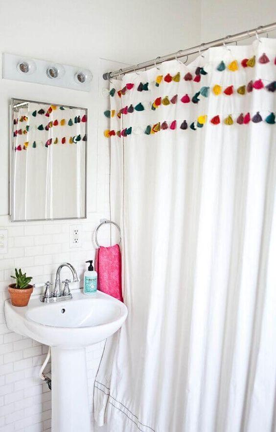 cortina para box de banheiro