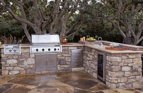 cozinha rústica externa de pedras