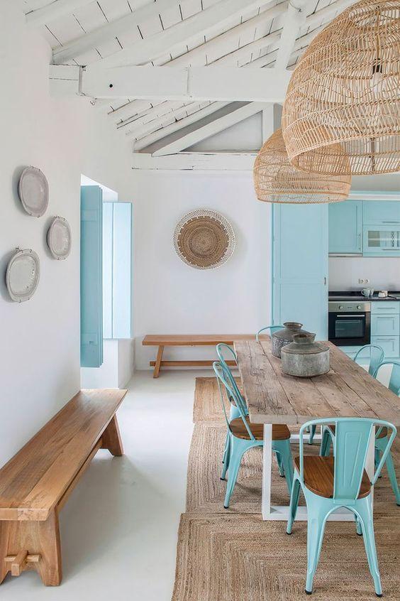cozinha azul moderna