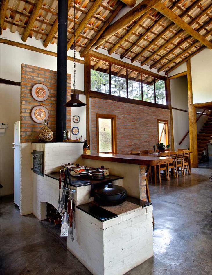 forno e fogão a lenha de tijolo refratário