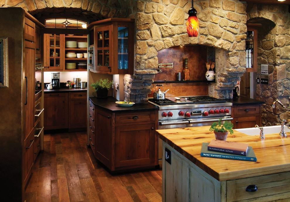 cozinha rústica de pedras