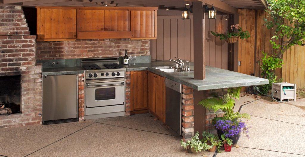 cozinha rústica com cimento queimado