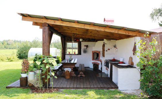cozinha rústica externa